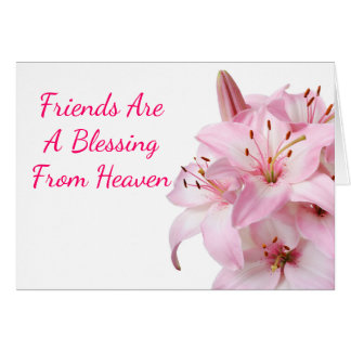 Floral Friends Pink Lily Flowers - Lilies Card