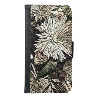 Floral Galaxy phone wallet