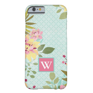 Floral Garden, Blue Background Barely There iPhone 6 Case