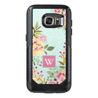 Floral Garden, Blue Background OtterBox Samsung Galaxy S7 Case