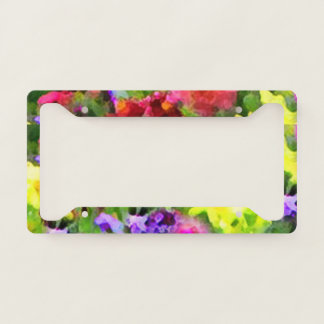 Floral Garden Flowers Abstract License Plate Frame
