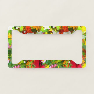 Floral Garden Flowers License Plate Frame