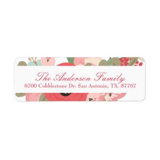 Floral Garden Pastel Return Address Label