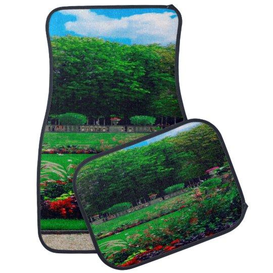 Floral Garden Trees and Clouds Set of 4 Car Mats Car Mat