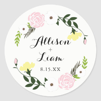 Floral Garden Wedding Sticker