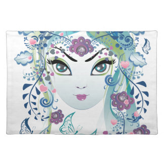 Floral Girl Face3 Placemat