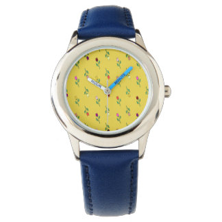 Floral Girly Blue Cheerful Vibrant Unique Chic Watch