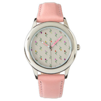 Floral Girly Cute Pink Graceful Chic Romantic Lady Wristwatches