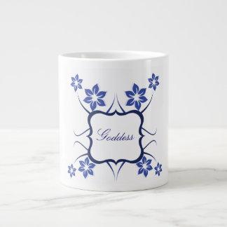 Floral Goddess Jumbo Mug, Blue Jumbo Mug