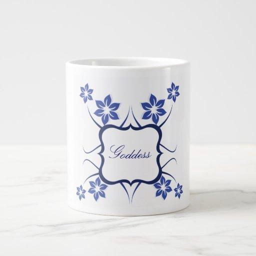 Floral Goddess Jumbo Mug, Blue
