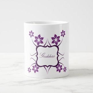 Floral Goddess Jumbo Mug, Purple Giant Coffee Mug