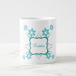 Floral Goddess Jumbo Mug, Teal