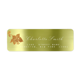 Floral Gold Foil Metallic Mint Green RSVP