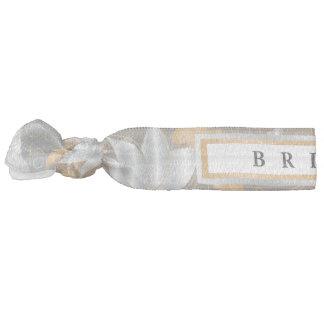 Floral Gold & Silver - Bride Hair Tie