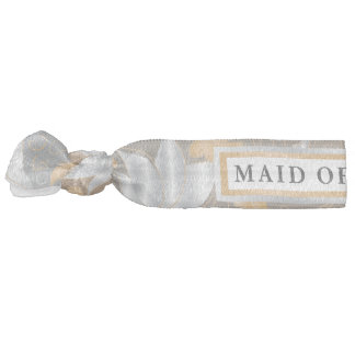 Floral Gold & Silver - Maid Of Honor Hair Tie