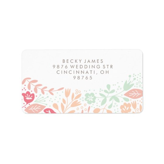 Floral Grace Stickers Return Address