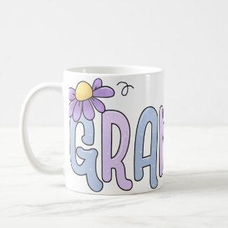 Floral Grandma Basic White Mug