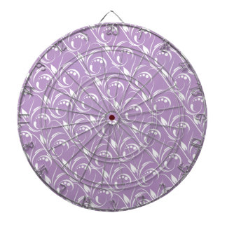 Floral Graphic Design On African Violet Background Dartboard With Darts