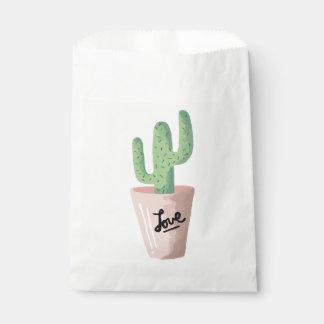 Floral Green Cactus Pink Love Southwestern Favour Bag