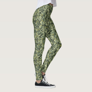 Floral Green Camouflage Leggings