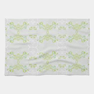 Floral green kitchen towels