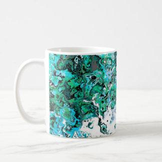 Floral Green Swirl Designer Mug