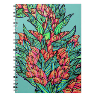 Floral greenery spiral notebooks