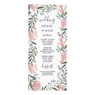 Floral Greenery Vintage Rustic Wedding Menu Cards