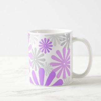 Floral gris violet - tasse