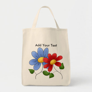 Floral Grocery Tote