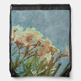 Floral Grunge Vintage Photo Drawstring Backpacks