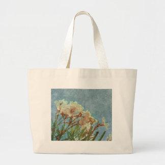 Floral Grunge Vintage Photo Large Tote Bag