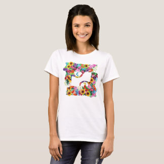 Floral Guns Womens T-Shirt
