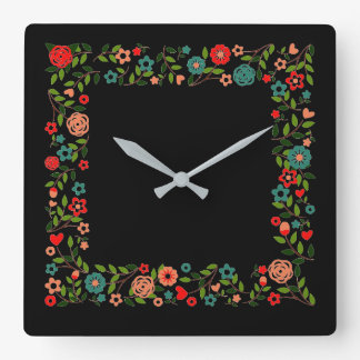Floral Gypsy Wall Clock