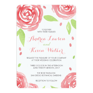 Floral Happiness Wedding Card
