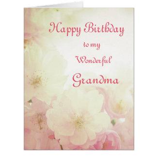 Floral Happy Birthday Grandma Card