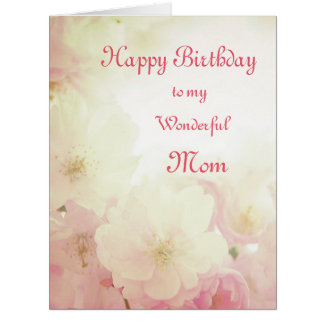 Floral Happy Birthday Mom Card