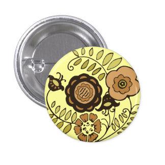 Floral Harvest 1 Inch Round Button