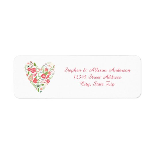 Floral Heart - Address Labels