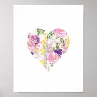 Floral - Heart - art print