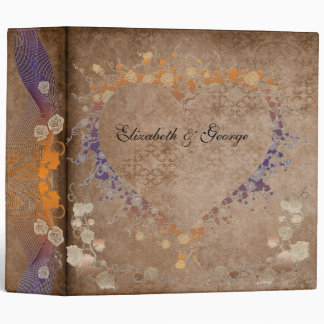 Floral Heart Avery Binder