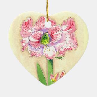 Floral Heart Ceramic Ornament