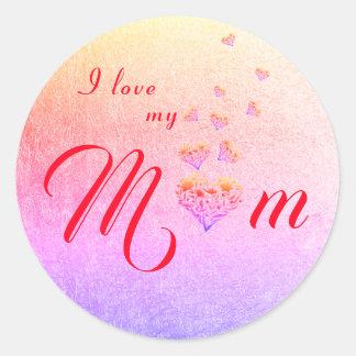 Floral Heart ~ Sticker ~ I love my Mum|Mom