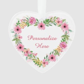 Floral Heart Wreath Ornament