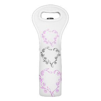 Floral Hearts Wine Tote