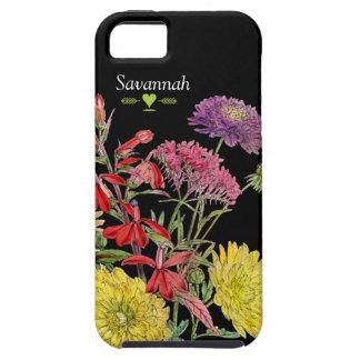 Floral Heirloom Chrysanthemum Black iphone 5 case