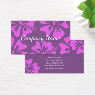 Floral Hibiscus flower business card template