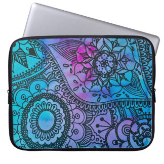 Floral Hippie Print Laptop Sleeve By Megaflora