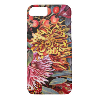Floral holiday chrysanthemum iPhone 7 case