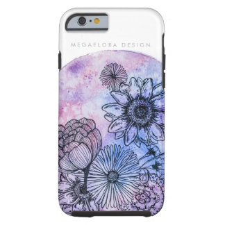 Floral Illustration on Watercolor By Megaflora Tough iPhone 6 Case